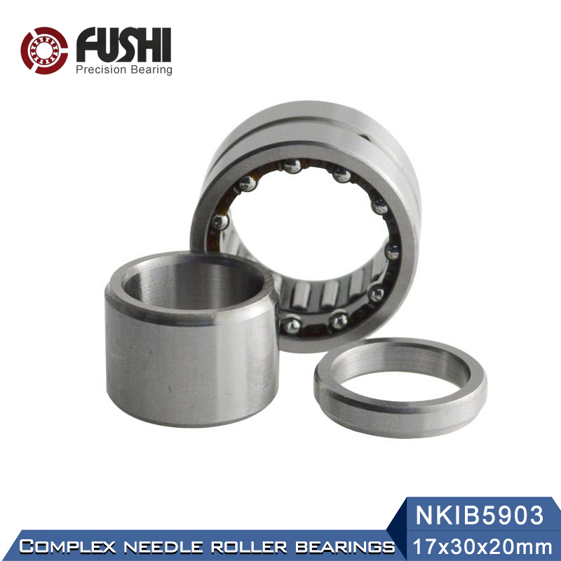 NKIB5903 Complex Bearings 17*30*20mm ( 1 PC) Needle Roller Angular Contact Ball Bearing NATB5903 NATB 5974903 1pcs 71822 71822cd p4 7822 110x140x16 mochu thin walled miniature angular contact bearings speed spindle bearings cnc abec 7