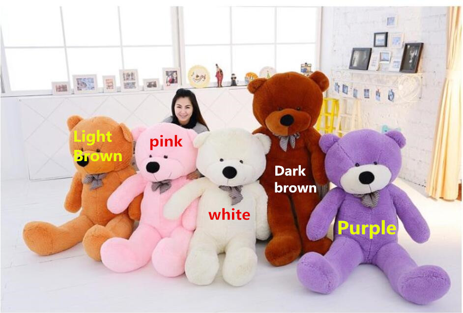 78 inch High 5 color big brown pink teddy Empty bear skin Doll Giant coat plush toys Large stuffed toy for birthday gift