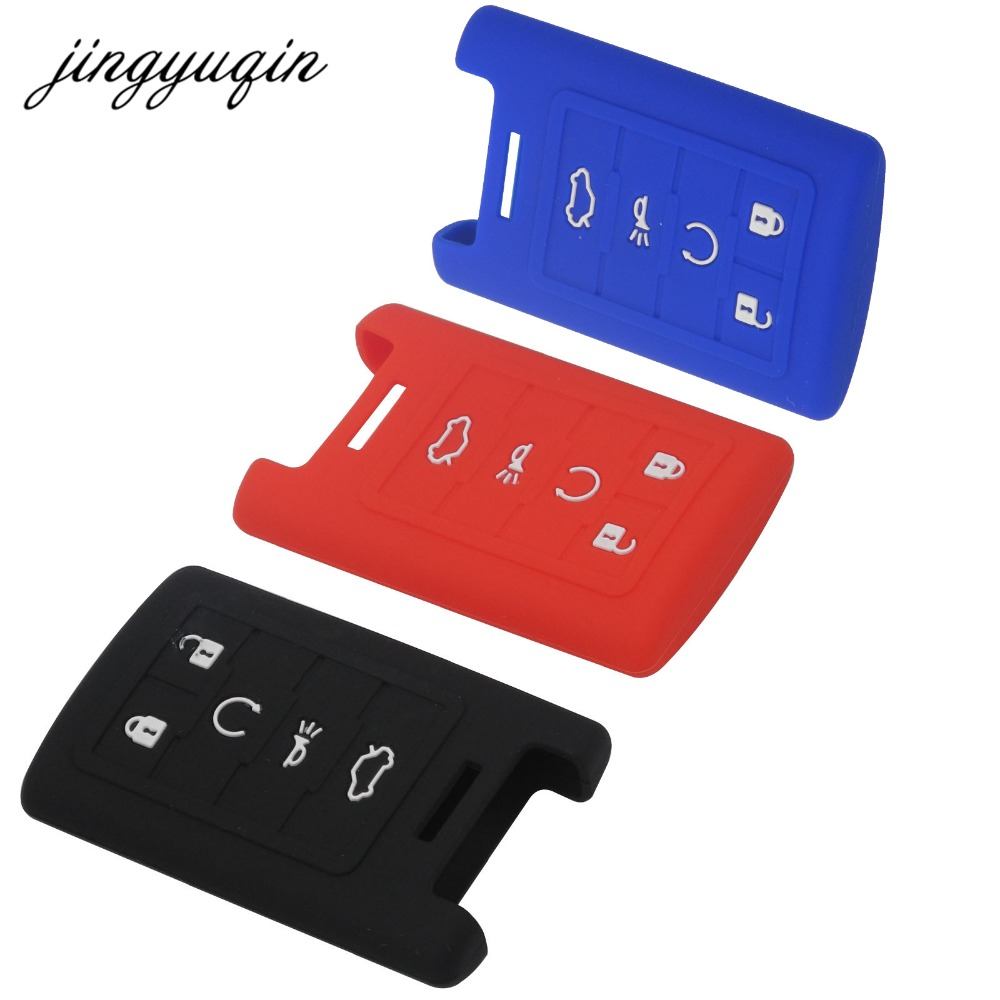 Jingyuqin skin silicone key fob case protect for cadillac sls cts ats cts srx xts seville