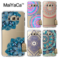 MaiYaCa lovely Colorful Floral Paisley Flower Mandala Henna transparent soft tpu Phone Case For Samsung Galaxy s8 plus Case