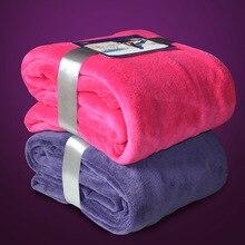 Jäten Geschenk Neue Ankunft Weiche Decke auf Bett Einfarbig Korallen Fleece Warme Werfen Decken Reise Decke Haus/Hotel
