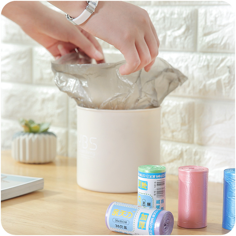 30pcs/roll Thicken Desktop Small Garbage Bags Household Car Mini Disposable Plastic Rubbish Bags Trash Bag