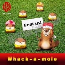 Vida real quarto escapar prop takagism jogo jxkj 1987 acertar o jogo hamster mouse whack a mole jogo para fugir sala secreta