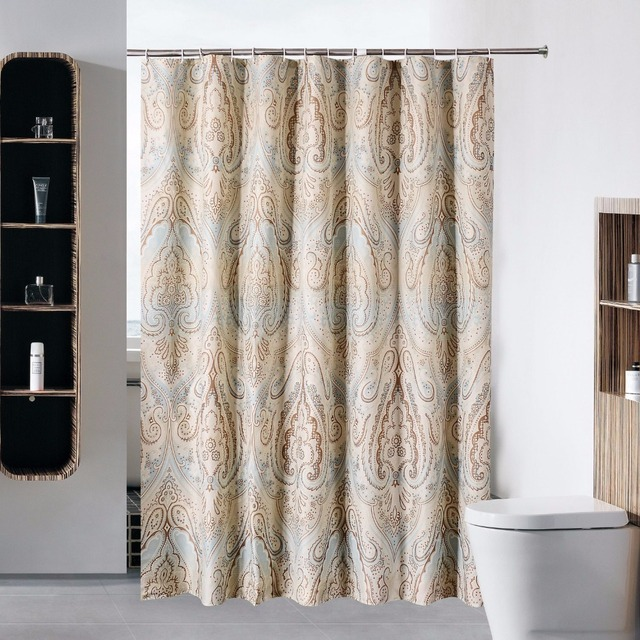 Shower Curtain Waterproof And Mildew Free Bath Curtains Heavy Weight European Style