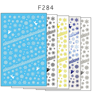 Image 5 - 1 Pcs 3D Nail Sticker Christmas Theme Pattern Mixed Deer/Snowflake Image Tips Nail DIY Decoration Sticker Decal LAF281 284