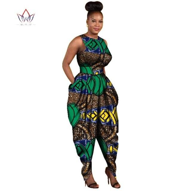578a01336ebde Maxi Size Women Jumpsuit Africa Cotton Wax Print Romper Bazin Riche Sexy Jumpsuit  Dashiki Elegant Africa