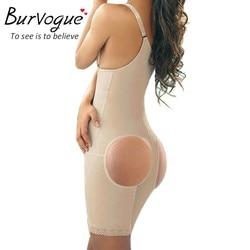 Burvogue Femmes Body Noir Full Body Shaper Perte de Poids Minceur Corps Taille Shaper Tummy Trimmer Sous-Vêtements Butt Lifter Ferme