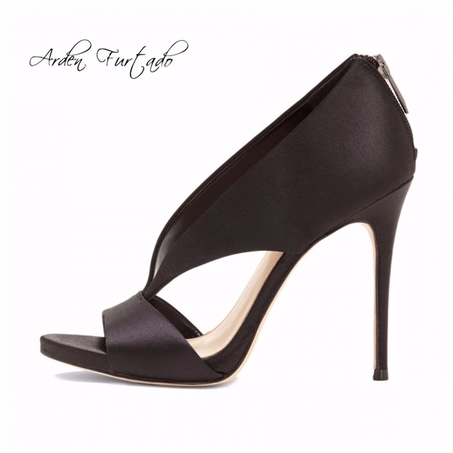 e7adefef879 2017 zomer schoenen hoge hakken sexy sandalen terug rits plus size 12 cm  open teen beige