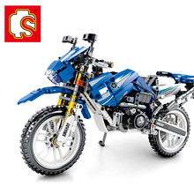Sembo Diamon Nano Blocks Recycle motorcycle Mechanical password Technic Voiture Building Brick Educational Toy Gift(China)