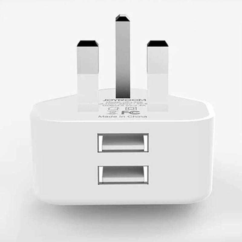 Ładowarka ścienna Adapter Dual USB wielkiej brytanii 3 pinowe wtyczki ładowania podróży trwałe dla telefonu komórkowego HSJ-19