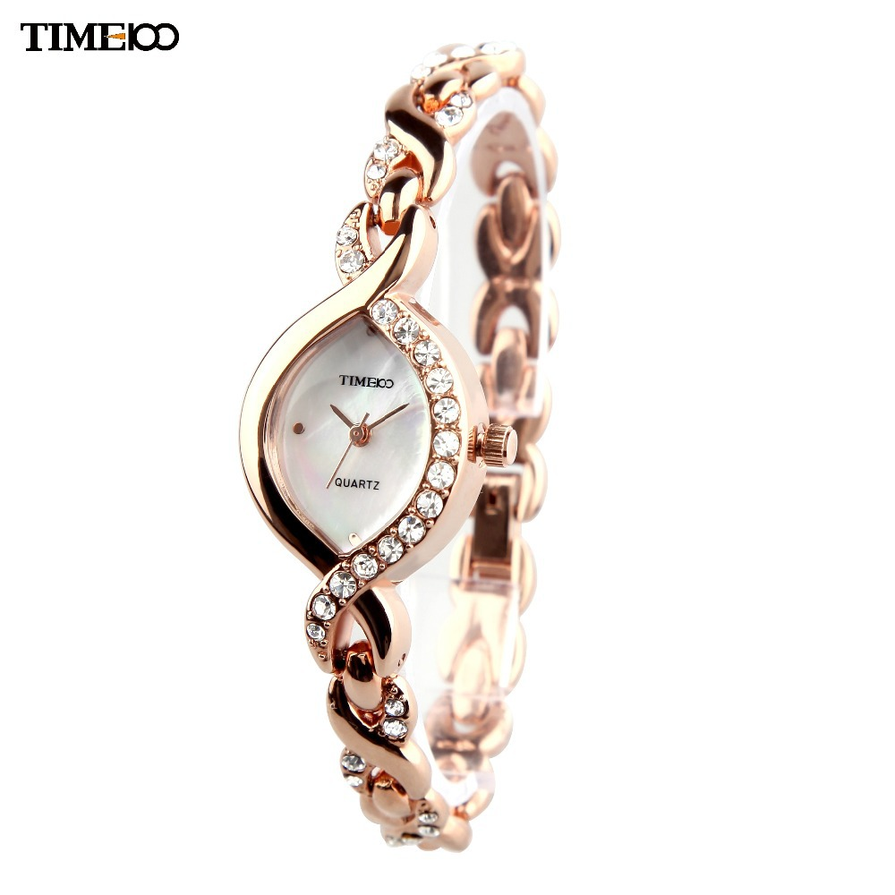 Charm Bracelet Watches: TIME100 Women Watches Quartz Analog Shell Dial Jewelry