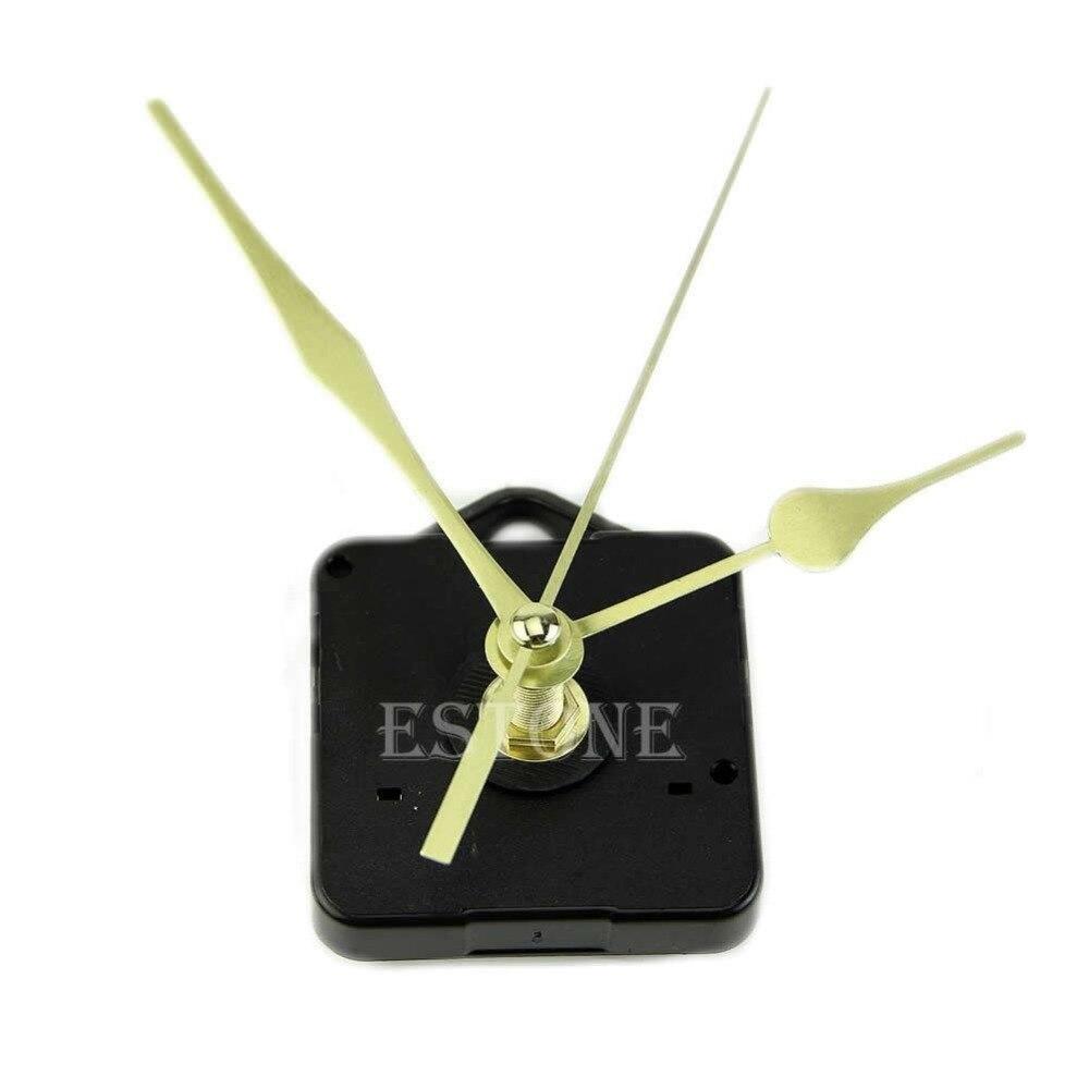 meilleur service meilleure sélection de convient aux hommes/femmes € 1.0 17% de réduction|Mécanisme de mouvement d'horloge à Quartz longue  broche Kit de main en or-in Pièces & accessoires d'horloges from Maison &  ...