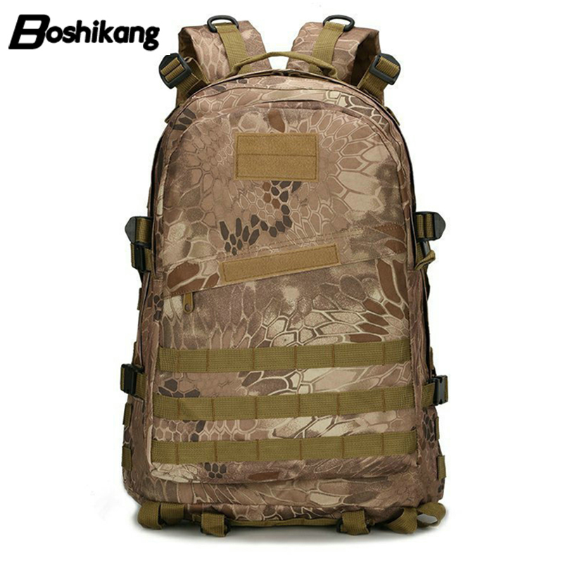 Boshikang Oxford Men Backpack 3d Attack Assault Backpacks High Quality Military Army Style Camouflage Bag Vintage Travel Daypack