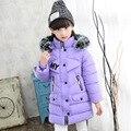 Parkas Inverno da menina das Crianças Jaquetas ClothingJacket Adolescente Meninas Outerwear Crianças Inverno Quente Parkas Casacos & Coats Para 8-14 Anos