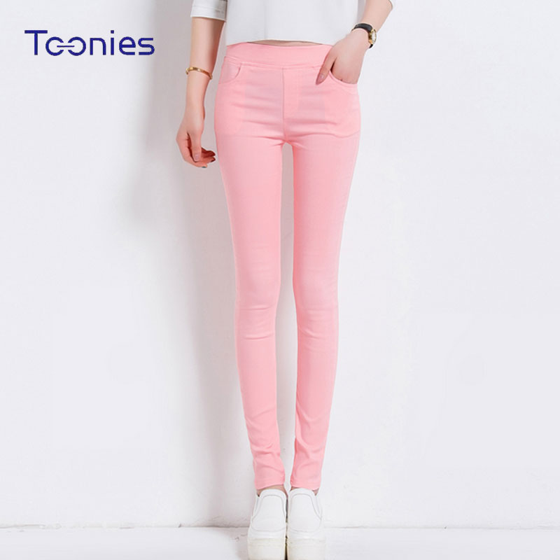 6 Farben Frauen Hosen Plus größe S-3XL Süßigkeit Farbige Dünne Leggings Stretch Zeichnen Hosen Famale Sommer Hosen Pantalon Femme