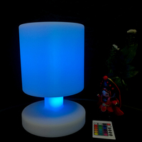 D170mm*H255mm Led Table Lamps Li battery Power Rechargeable with 24 keys remote Control Free Shipping 10pcs/Lot