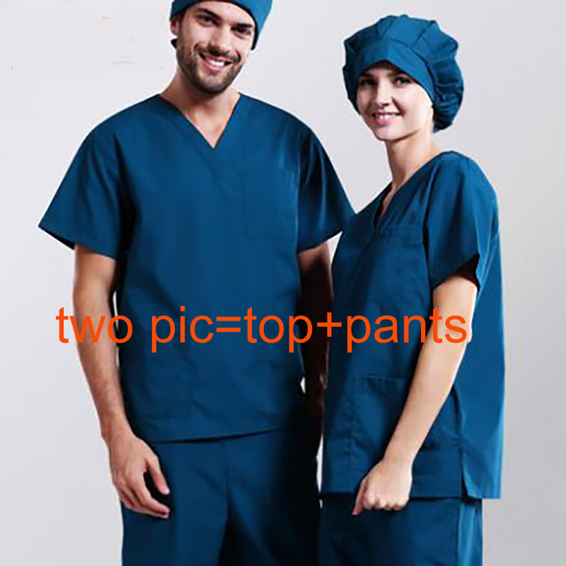 Hot Hand washing Washing clothes gowns gowns doctors serving men and women long sleeve cotton nurse operating room gowns