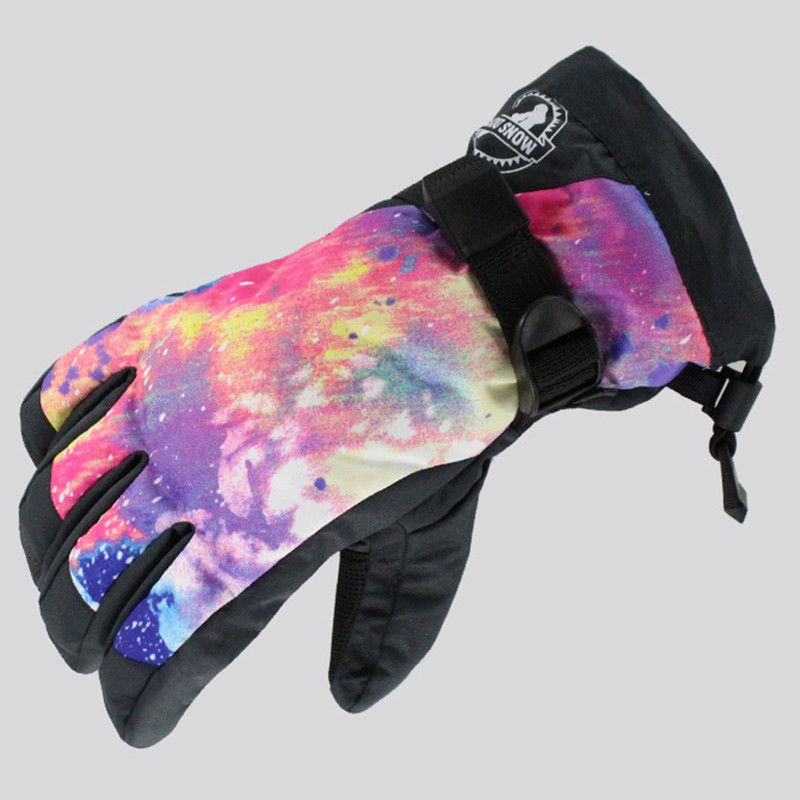 2017 Women Gsou Snow Ski Glove Touch Screen Ski Outdoor Sport Wear Skiing Snowboard Super Warm Windproof Waterproof Female Glove
