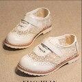 Лето Новый Стиль 2016 Кружева Обувь Лондон Стиль Мягкие Девушки Кожаные Ботинки Дышащие Детские Сандалии #2155