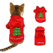 Santa Cat Costume Christmas Pet Dog Clothes Cotton Winter Hoodie Dog Clothes for Dog Coat for Yorkie Roupas Abrigo de Perros 30