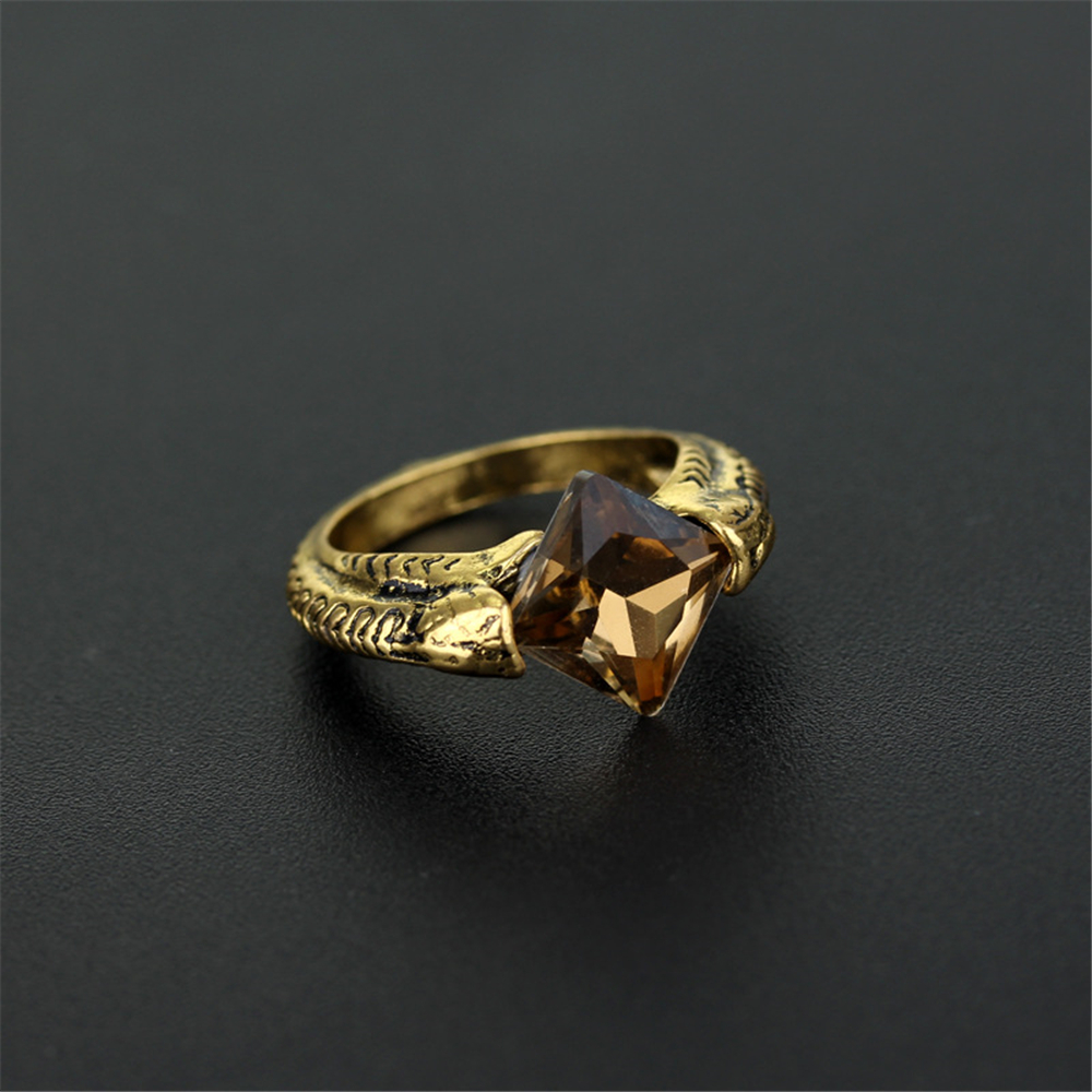 Women Men Harri Deathly Hallows Potter Horcrux Resurrection Stone Ring Gift Cosplay Costume Prop Collection