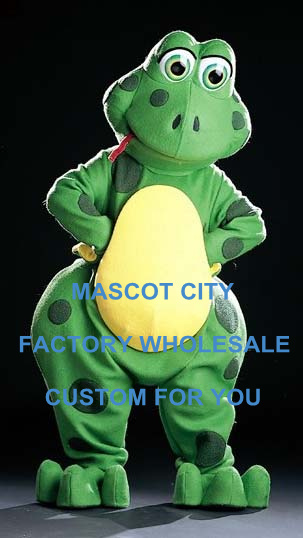 Free Ship Best Quality Mascot Huge Froggles Frog Mascot Costume Adult Cartoon Character Party Carnival SW911