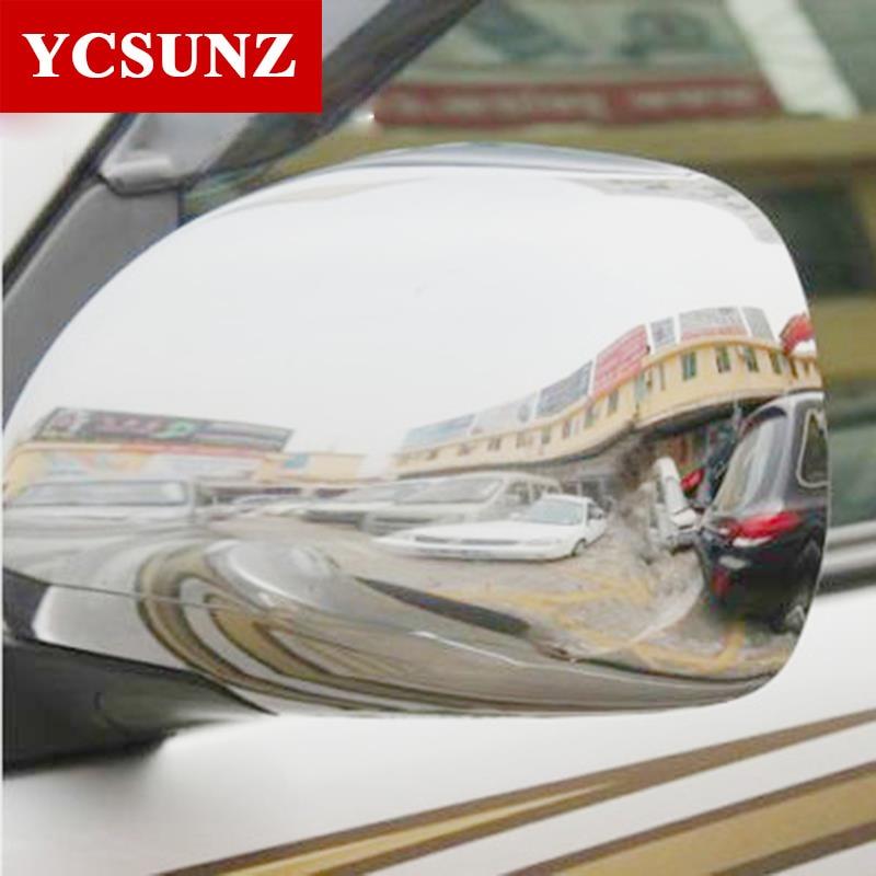 ABS Chrome Car Accessories Side Mirror Cover For Toyota Land Cruiser Prado Fj120 2003 2008
