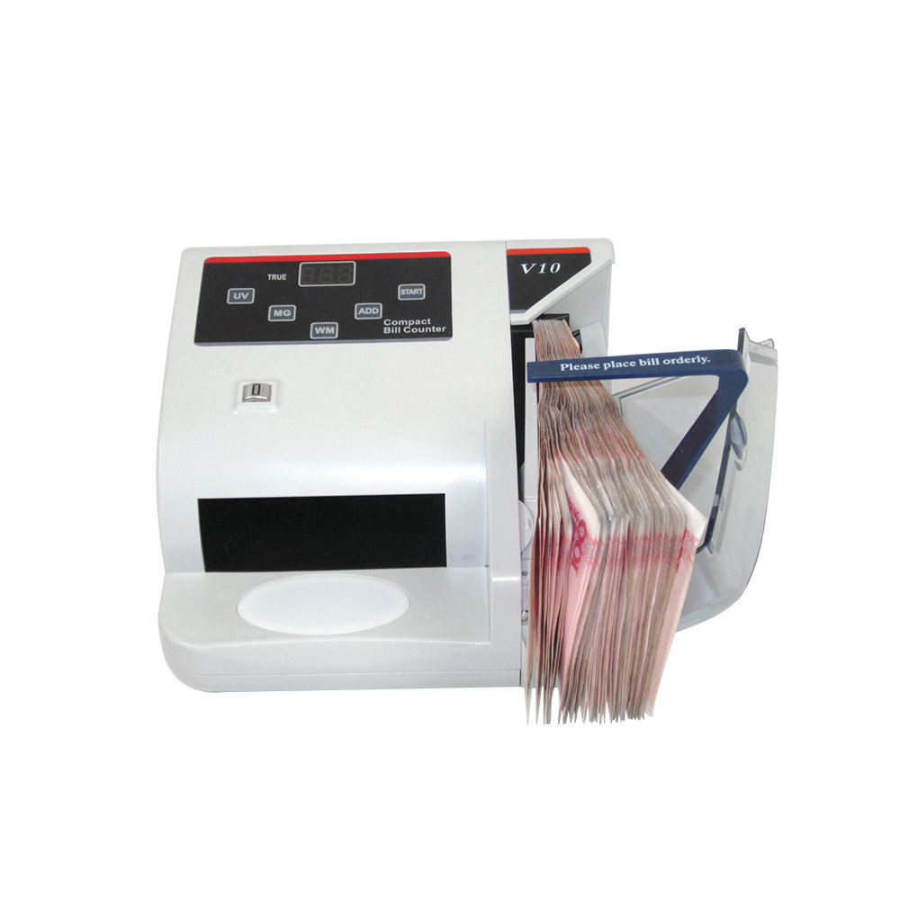 Mini Money Detector with UV MG WM Bill Counter for Most Currency Note Bill Cash Counting Machine EU-V10 Financial Equipment