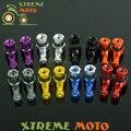 2 unids Universal de La Motocicleta de Aluminio Del Neumático de Válvula del Neumático Tallos Caps 90 Grados Para KTM XR CR CRF YZF YZ WR WRF RM RMX RMZ KLX KX