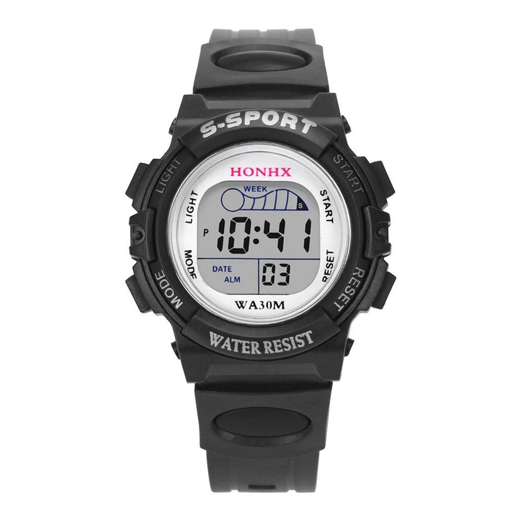 Digital Watch Alarm Date Rubber Army Sport Children LED Digital Display Bracelets Watches Sports Wristband Running Gift