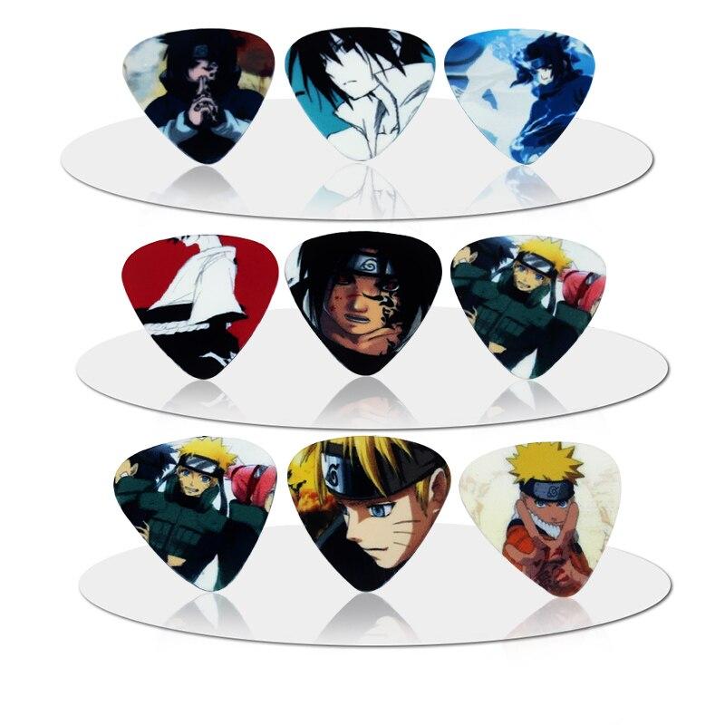 10pcs hot PICKS fashion10pcs Naruto cartoon Guitar Picks Thickness 0.71mm Musical instrument accessories