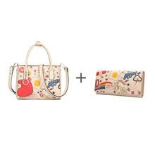 FOXER Brand Fashion Women Handle Bag & Long wallet #2