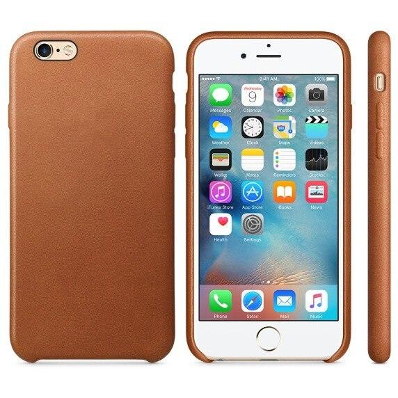 עם הלוגו המקורי 1:1 כיסוי נרתיק עור עבור iPhone6 6 4.7 / 5.5 במקרה העותק המקורי הכיסוי האחורי הרשמי סגנון