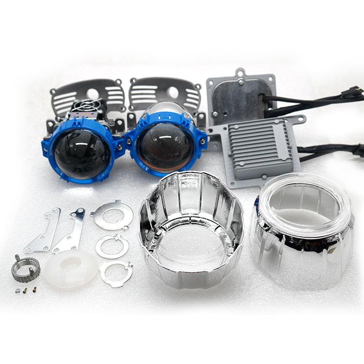 Hot Sale High Quality Super Bright Car LED Headlights 70W 5500K High Low Beam Car-styling Auto Bi LED Projector Lens Headlights недорго, оригинальная цена