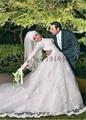 Musulmanes Vestidos De Novia de Encaje de Manga Larga Vestidos de Noiva 2017 una Línea de Apliques Vestido de Boda de la Playa vestido de Novia Robe de matrimonio