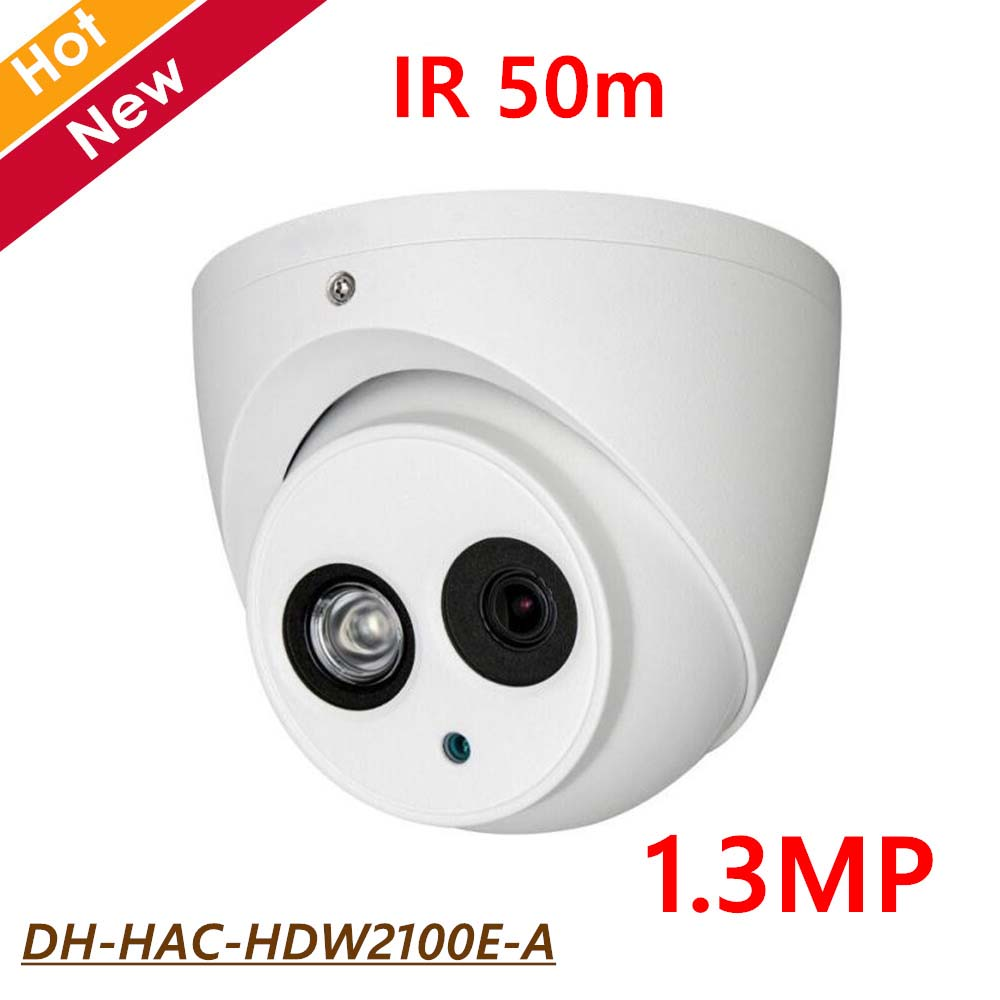 Newest DH DH-HAC-HDW2100E-A HDCVI Camera Built-in MIC 1.3MP IR 50M 1/3 CMOS IP67 Outdoor Security CCTV Camera HAC-HDW2100E-A dahua hdcvi hac hdw1200em a 2mp dome camera built in mic cmos 1080p ir 50m ip66 dh hac hdw1200emp a security camera