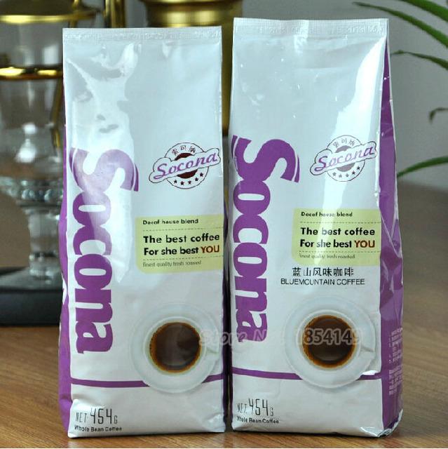 454g High Quality Blue Mountain Coffee Beans Baking Charcoal Roasted Savoury and Mellow Green food Slimming Coffee Lose Weight
