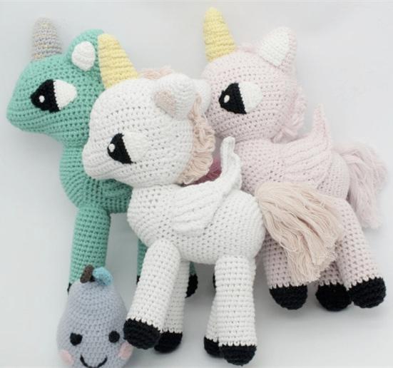 Novo Cavalo Travesseiros 30 cm Bebê Animais Brinquedos para Crianças Decoração Do Quarto de Dormir Bonito Kintted Crianças Presentes 3 Cores Em Estoque 1 pcs