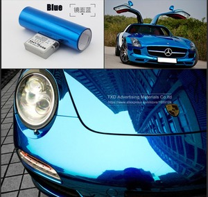 Image 3 - Free shipping chrome mirror vinyl film Chrome mirror Sticker with air free bubbles with size:10/20/30/40/50/60x152CM/LOT
