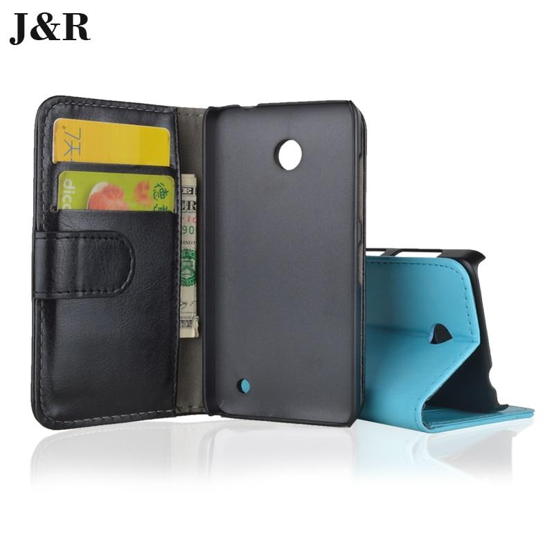 J&R Brand Wallet Leather Case For Nokia Lumia 630 Flip
