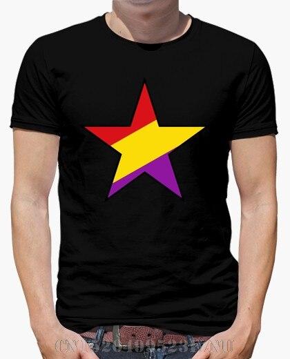 2018 Summer black friday t shirts mens Black Republican Star Short sleeves Casual Cotton tees men Clothing