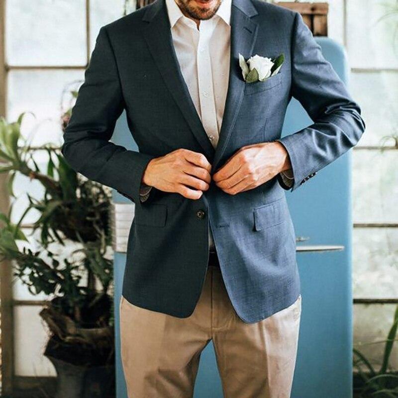 Лидер продаж, летний умный повседневный мужской костюм, приталенный, расслабляющий костюм для бойфренда, вечерние свадебные платья, пиджак