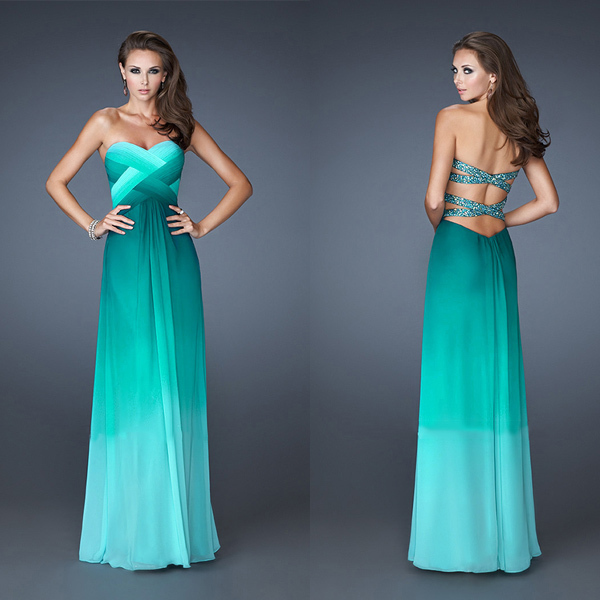 Turquoise Ombre Dresses