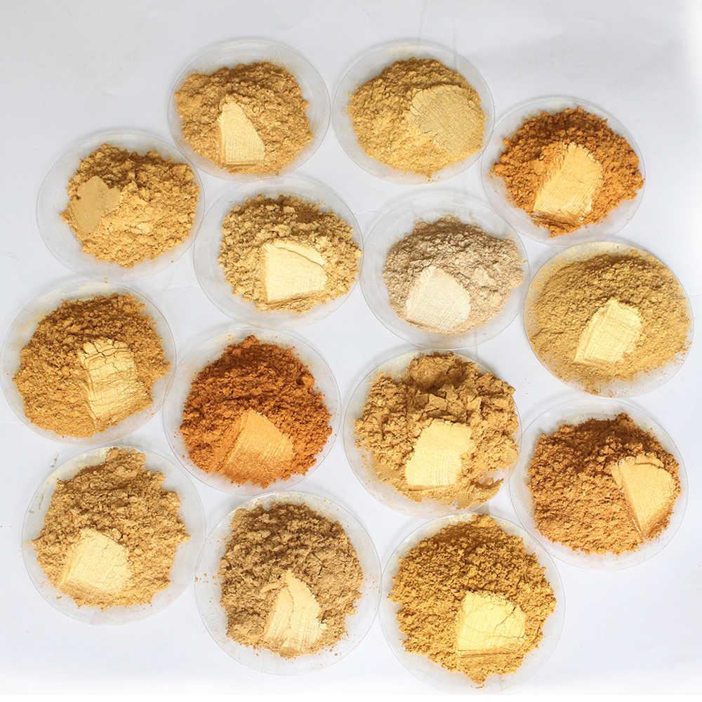 Тип 320 золотой пигмент жемчужный порошок 50 г краска для керамики покрытие автомобильные Coatingsart ремесла цвета для кожи ремесла