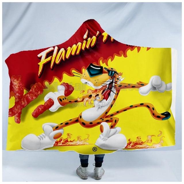Plstar Cosmosร้อนCheetosอาหารHarajukตลกHoodedผ้าห่ม3Dพิมพ์ผ้าห่มสำหรับผู้ใหญ่ผู้ชายผู้หญิงสไตล์ 1