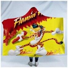 Plstar Cosmos Hot Cheetos Voedsel Harajuk Grappige Hooded Deken 3D Volledige Print Wearable Deken Volwassenen Mannen Vrouwen Stijl 1