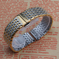 Silver gold Rosegold Watchbands for quartz watches mens womens accessories 18mm 20mm 22mm straps bracelet butterflyFolding clasp