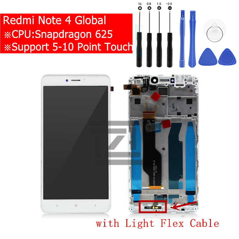 for Xiaomi Redmi Note 4 Global Version LCD Display Touch Screen Glass Mid Frame Digitizer Assembly Replacement Repair Partsfor Xiaomi Redmi Note 4 Global Version LCD Display Touch Screen Glass Mid Frame Digitizer Assembly Replacement Repair Parts