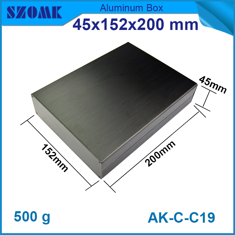 1 piece free shipping wire drawing Black color 45(H)x152(W)x200(L) mm aluminium junction box manufactures in China 1 piece free shipping wire drawing black color 45 h x152 w x200 l mm aluminium junction box manufactures in china