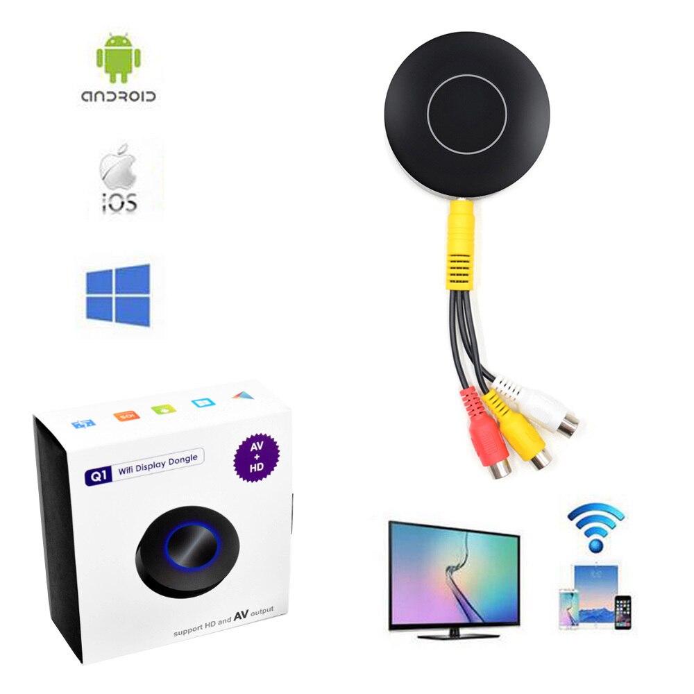 Wifi Écran Push Fonte D'affichage pour Android IOS Tablet PC AnyCast Sans Fil DLNA Airplay Dongle Partage à la TVHD et AV RCA TV Bâton